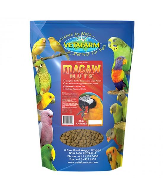 Vetafarm Macaw Nuts Complete Diet For Large Parrot Birds 2kg