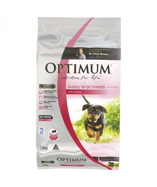 Optimum Chicken Large Breed Puppy Dry Dog Food 15kg
