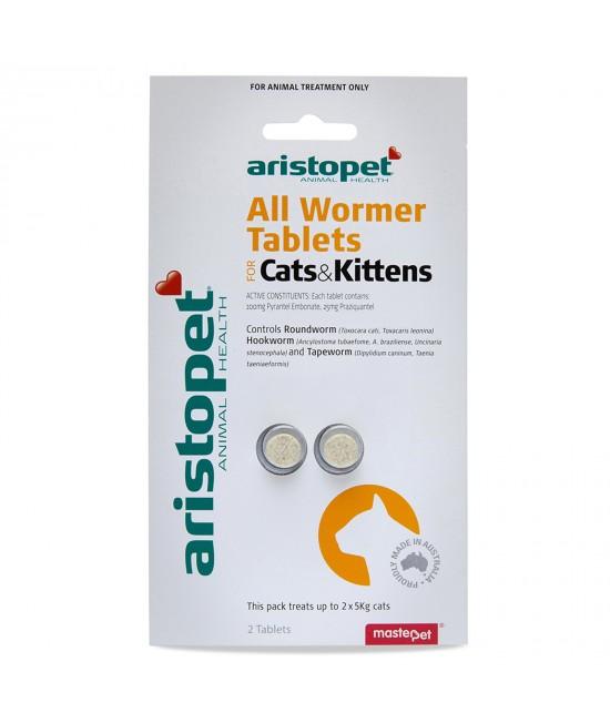 Aristopet AllWormer For Cat And Kittens 2pk