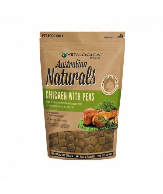 Vetalogica Australian Naturals Chicken With Peas Grain Free Treats For Cats 100gm
