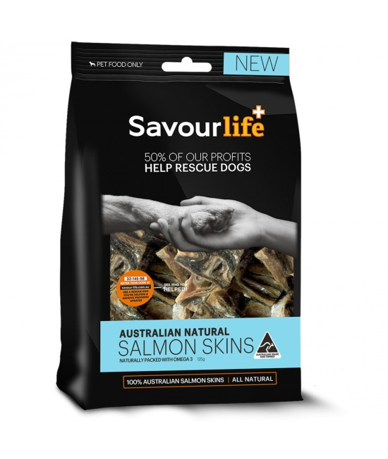 SavourLife Salmon Skins Treats For Dogs 125gm