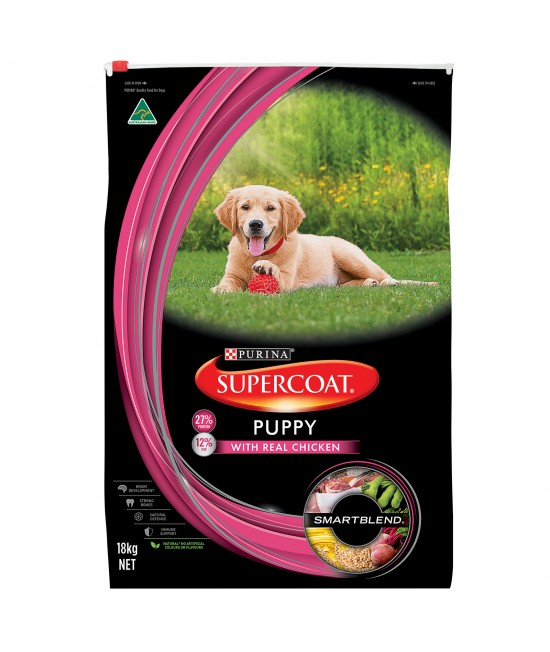 Supercoat Real Chicken Puppy Dry Dog Food 18kg