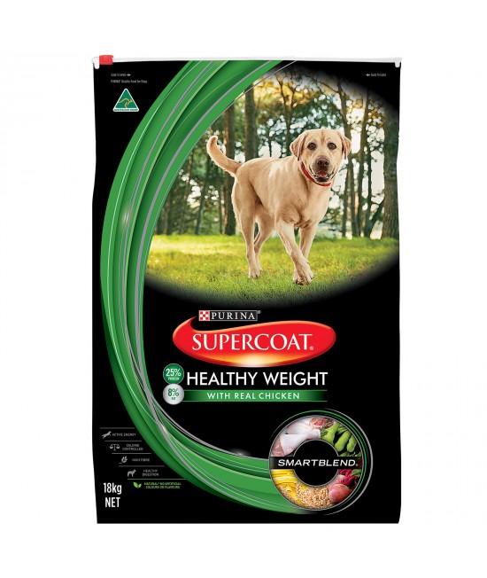 Supercoat Healthy Weight Real Chicken Adult Dry Dog Food 18kg