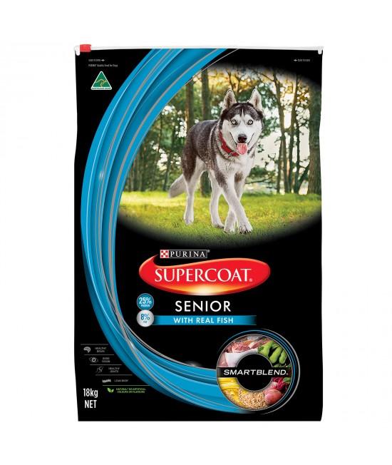 Supercoat Real Fish Senior Dry Dog Food 18kg