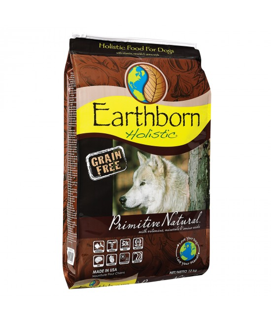 Earthborn Grain Free Primitive Natural Chicken And Whitefish Dry Dog Food 12kg