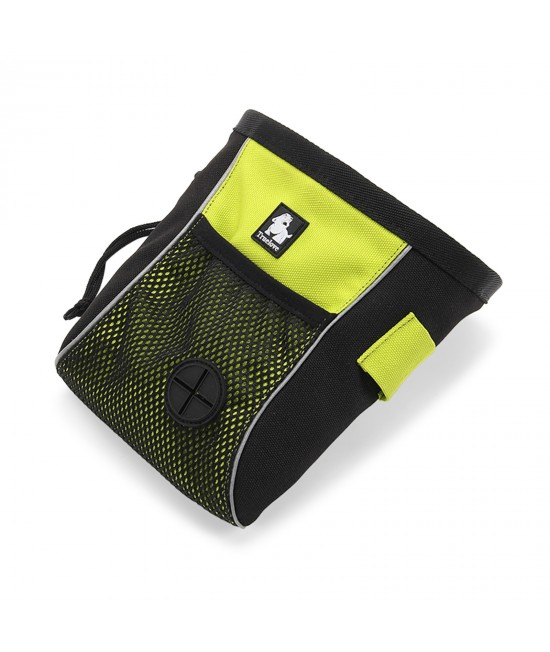 True Love Treat Training Pouch Belt Bag Yellow And Black Medium For Dogs