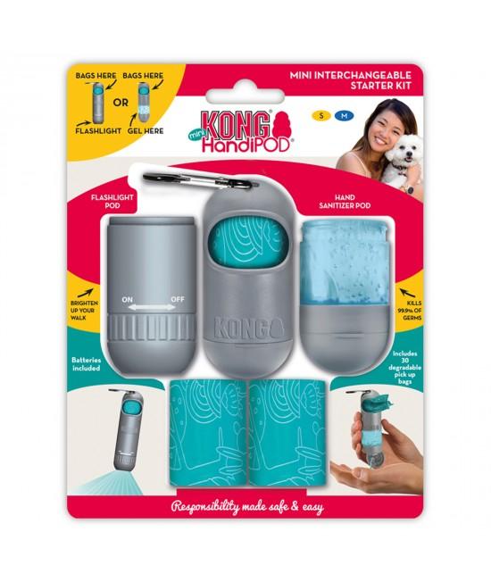KONG HandiPOD Mini Interchangeable Kit Poo Bag Dispenser Hand Sanitiser And LED Flashlight