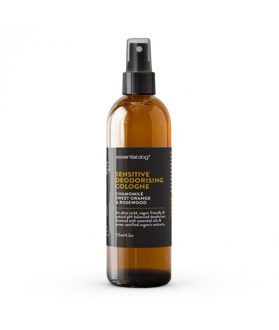 Essential Dog Sensitive Deodoriser Cologne Chamomile Sweet Orange And Rosewood For Dogs 125ml