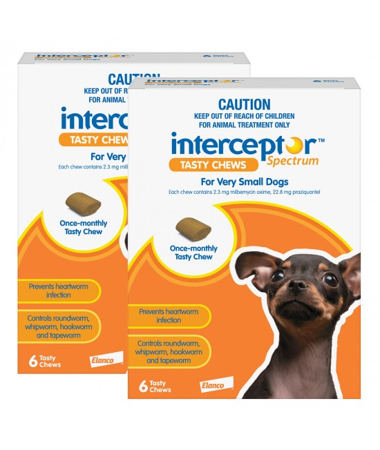 Interceptor Spectrum For Dogs Up To 4kg Brown 12 Chews