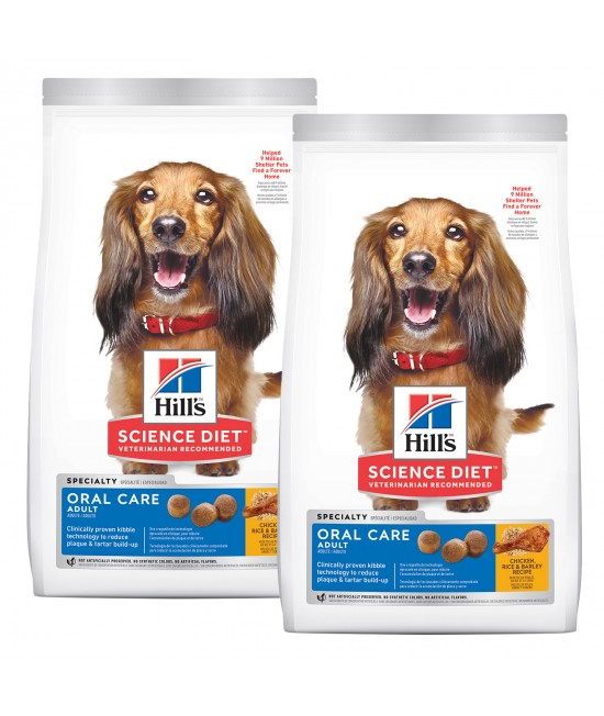 Hills Science Diet Oral Care Chicken Rice And Barley Recipe Adult Dry Dog Food 24kg