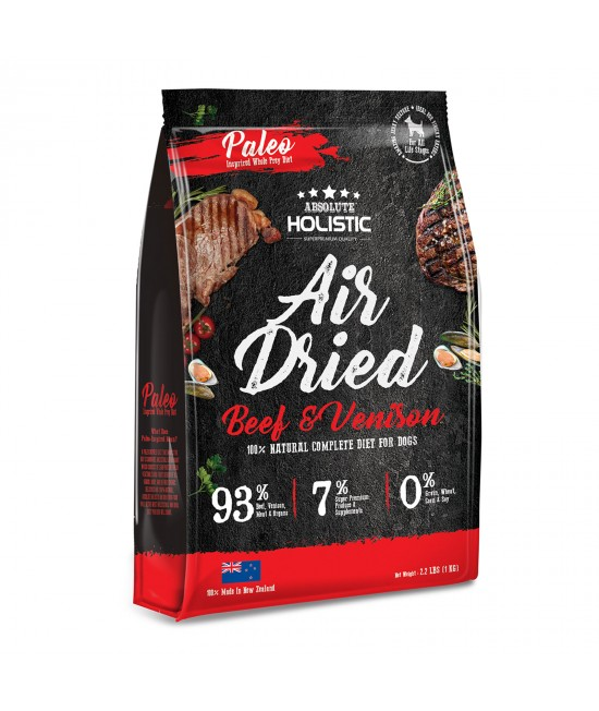 Absolute Holistic Air Dried Grain Free Beef And Venison Dry Dog Food 1kg