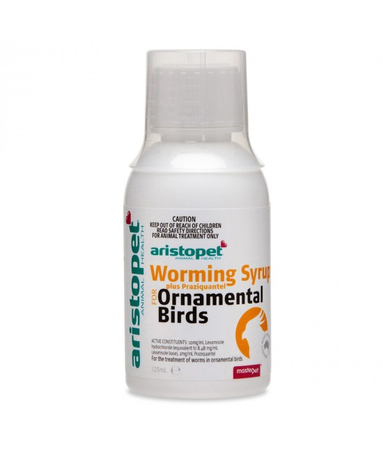 Aristopet Worming Syrup Plus Praziquantel for Ornamental Birds 125ml