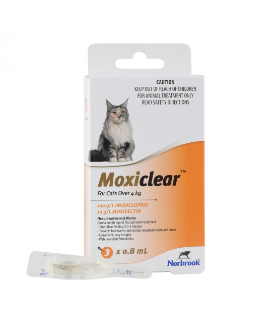 Moxiclear For Cats Over 4kg 3 Pack