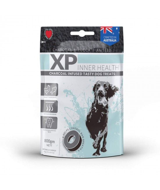 XP Inner Health Charcoal Infused Chicken And Fish Treats For Dogs 800gm