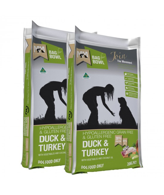 Meals For Mutts MfM Grain Free Duck And Turkey Adult Dry Dog Food 40kg