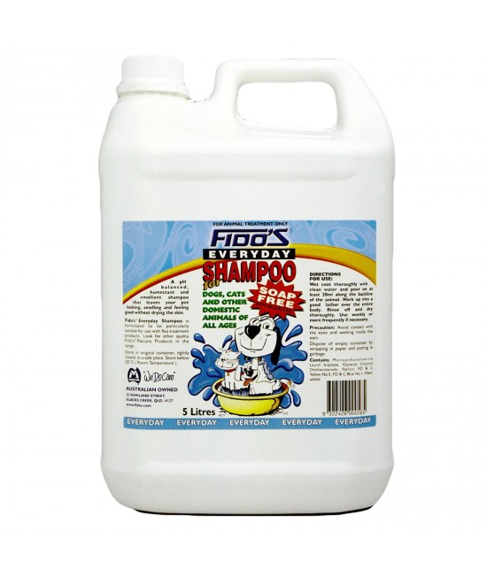 Fidos Everyday Shampoo For Dogs And Cats 5L