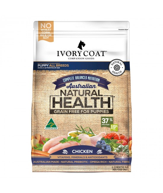 Ivory Coat Natural Health Grain Free Chicken Puppy Dry Dog Food 2kg