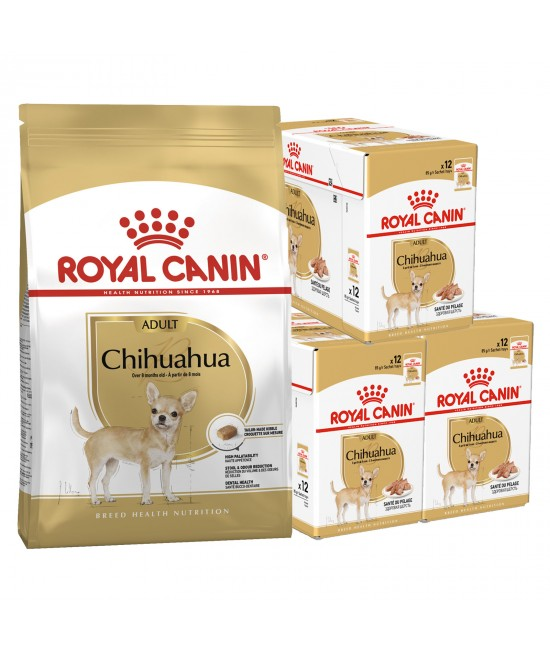 Royal Canin Bundle Chihuahua Adult Wet And Dry Dog Food