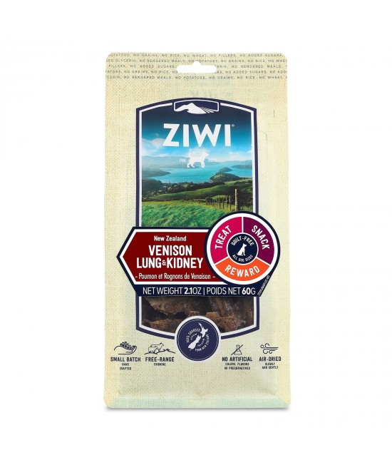 Ziwi Peak Venison Lung And Kidney Dried Chew Treats For Dogs 60gm