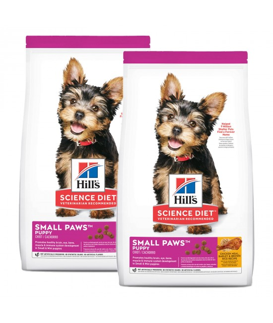 Hills Science Diet Small Paws Chicken Meal Barley Brown Rice Recipe Puppy Dry Dog Food 3kg