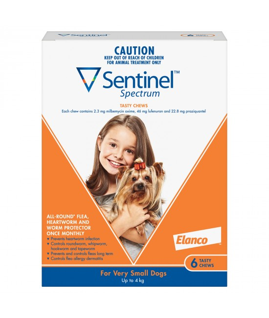 Sentinel Spectrum For Dogs Up To 4kg Brown 6 Pack
